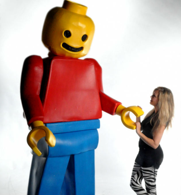Lego men will be out in the city