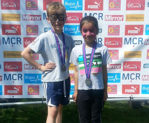 James and Tia after finishing the Mini Marathon