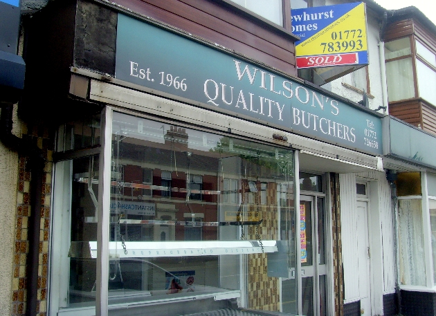 The former Wilsons butchers shop on Blackpool Road