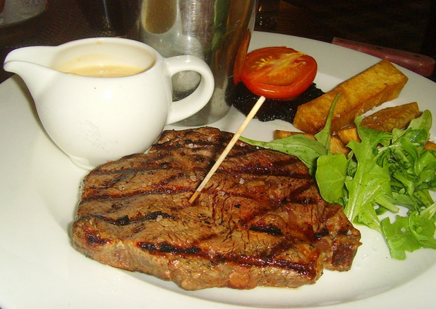 Scottish rib eye steak