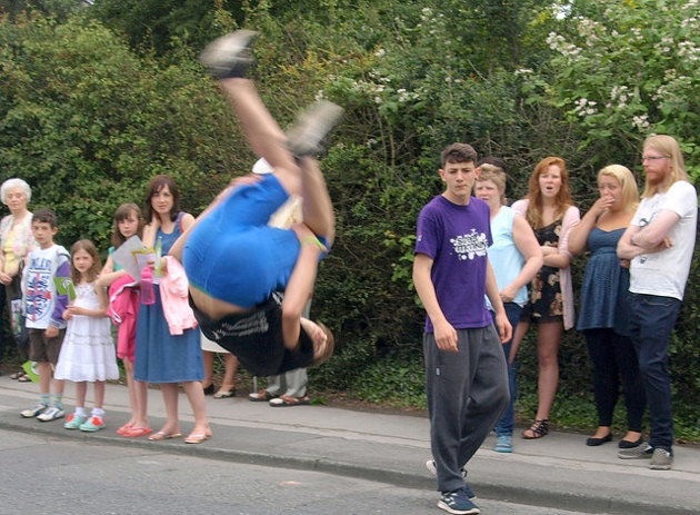 Street Monkeys at Penwortham Gala Procession