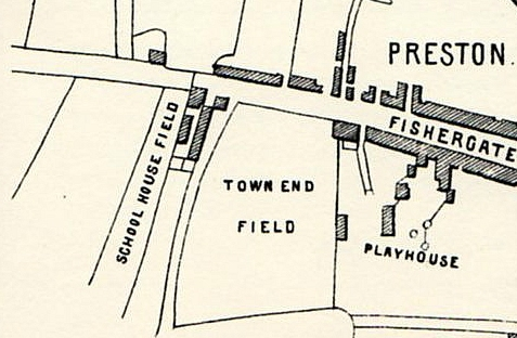 Extract From George Lang's Map Of Preston 1774