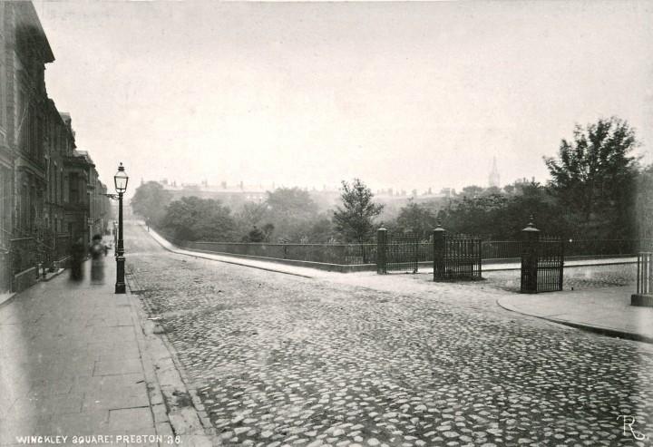 Winckley Square during the 1882 Preston Guild