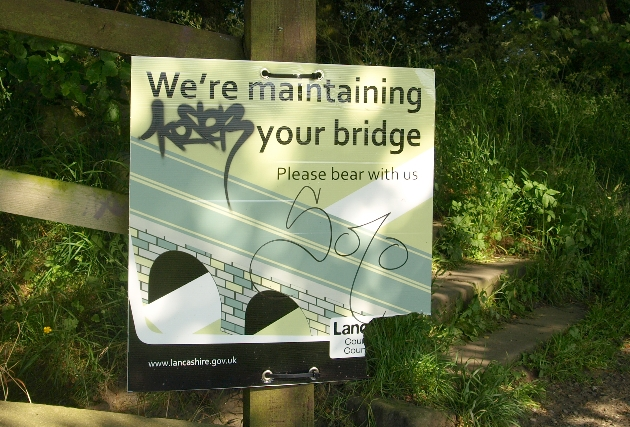 tram bridge sign