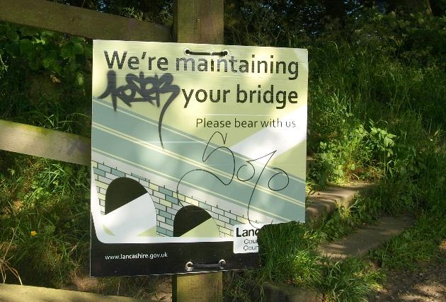 tram bridge sign