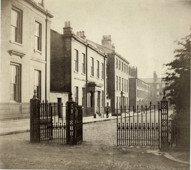 Taken From The South East Corner Of Winckley Square, Showing The South Side Residences (1863)