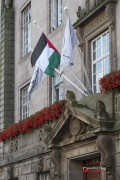 The Palestine and Preston City Council flags flying together