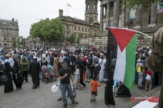 Preston, Lancashire, UK, 12 Jul 2014: Hundreds attend peaceful F
