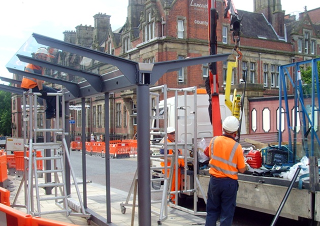 New bus stop being constructed