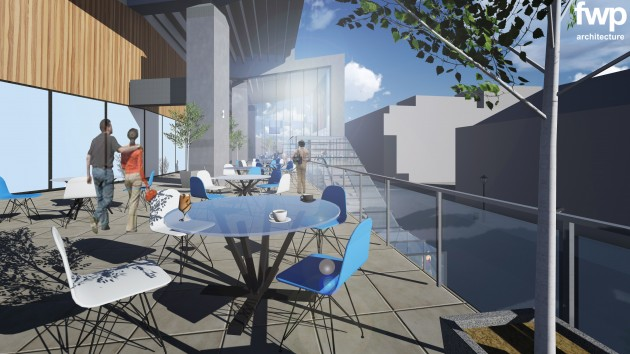 The plan points to more of a food offering at the Guild Hall complex
