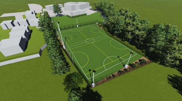 The new all-weather sports pitch would be built on part of the existing playing fields