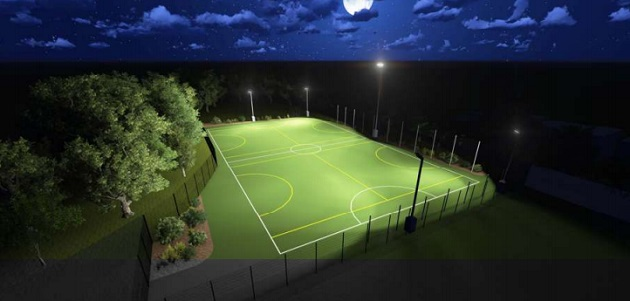 Artist impression of the pitches at night