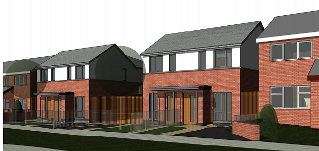 Artists impression of how the new Rowan Avenue homes would look
