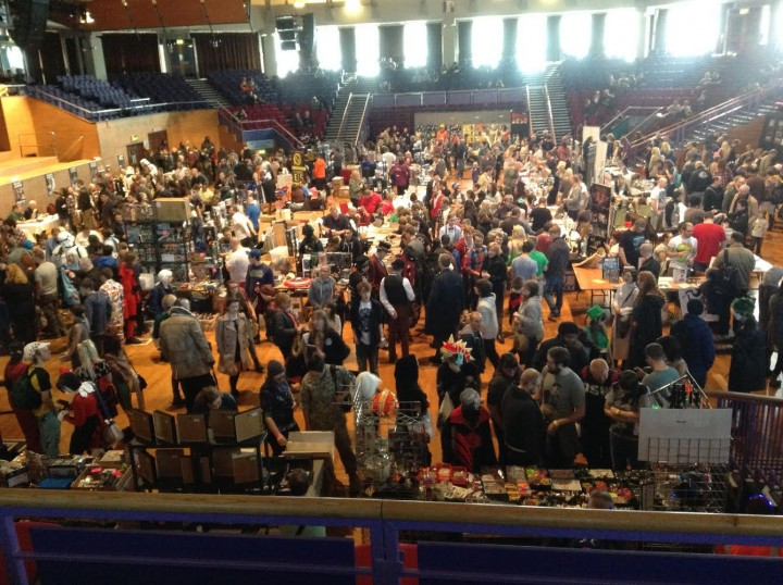 Inside the Guild Hall for Comic Con