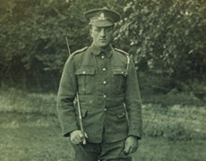 Fred Sandiford fought in the First World War