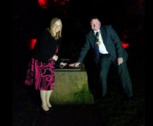 The Mayor and Mayoress switch on the grotto