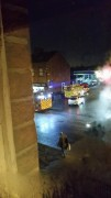 Two fire engines at the laundrette on Fishergate Hill