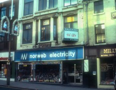 Norweb Electricity Showrooms, Friargate, Preston 1984