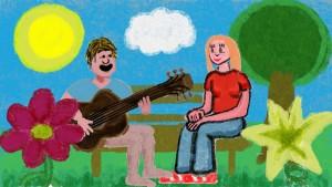 Still from Fabian Holland's Spring music video