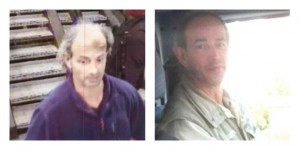 Gary Williams captured on CCTV and picture, right, issued by police