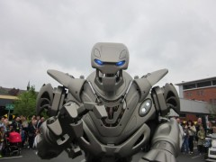 Titan the robot, which opened last year's event