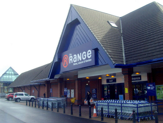 The Range at Queen Street Retail Park Pic: Tony Worrall