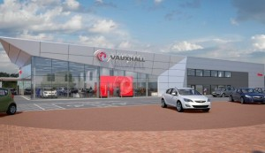 The Vauxhall showroom proposed on the new Perrys site