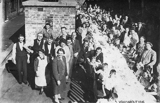 Street party in Scott Street in 1945