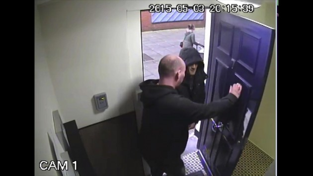 A second man was seen entering the building
