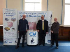 Councillor Matthew Brown, Mike Barry and Greg Smith from the Preston voluntary, community and faith sector