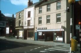 Allens Cafe at Junction of Church Street & Nile Street, Preston c.1972
