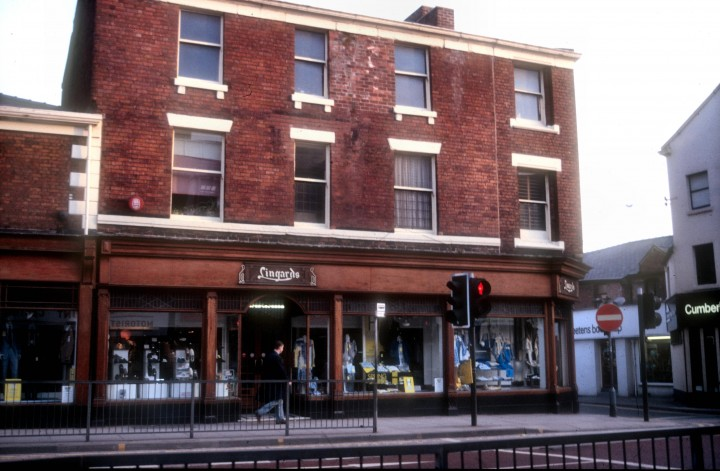 Lingard's Outfitters, 44 Fishergate, Preston c.1979