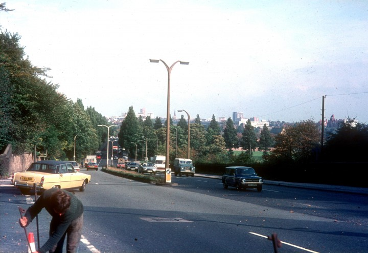 Penwortham Hill, viewed from Liverpool Road, Penwortham, Preston c.1978