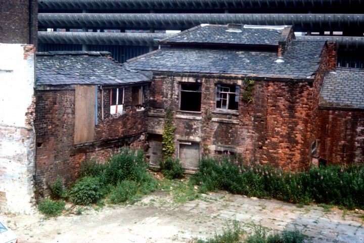 Rear of Thithebarn Street, now known as the Grassy Knoll, Preston c.1978