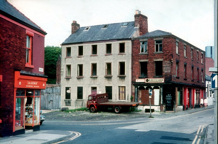 Arkwright House on junction of Stoneygate & Syke Hill, Preston c.1972