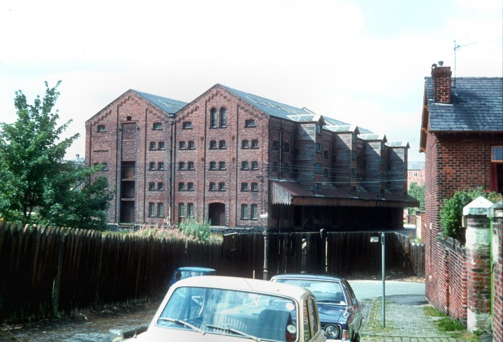Butler Street Goods Warehouse from East Cliff Road, Preston c.1977