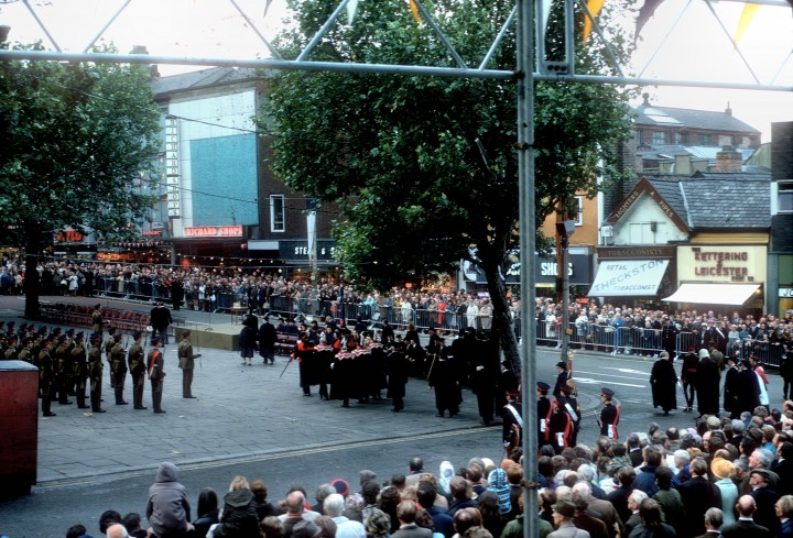 Guild Parade, Market Place, Preston 1972