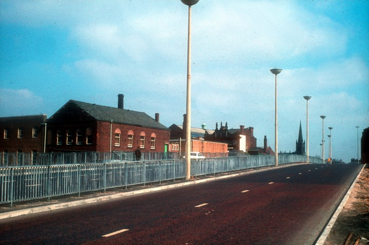 Ringway completion over the subway, Preston c.1969