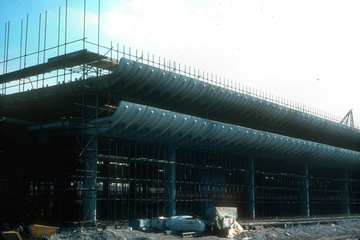 Central Bus Station under construction,Preston  c.1969