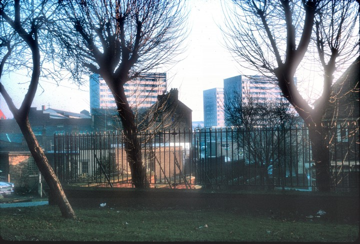 Avenham Multi-Storey Flats, from Stoneygate, Preston 1967