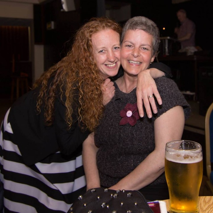 Photographer, Nancy Lisa Barrett receives a big hug from event organiser