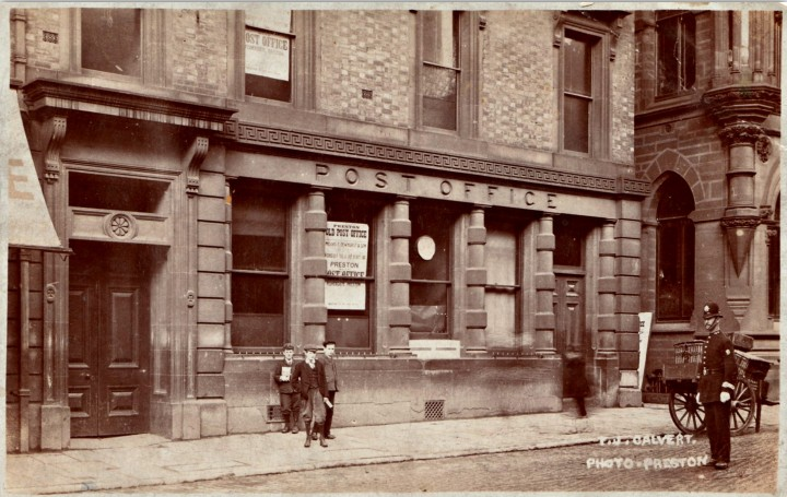 The Old Head Post Office, Fishergate, Preston, following its closure in 1903.