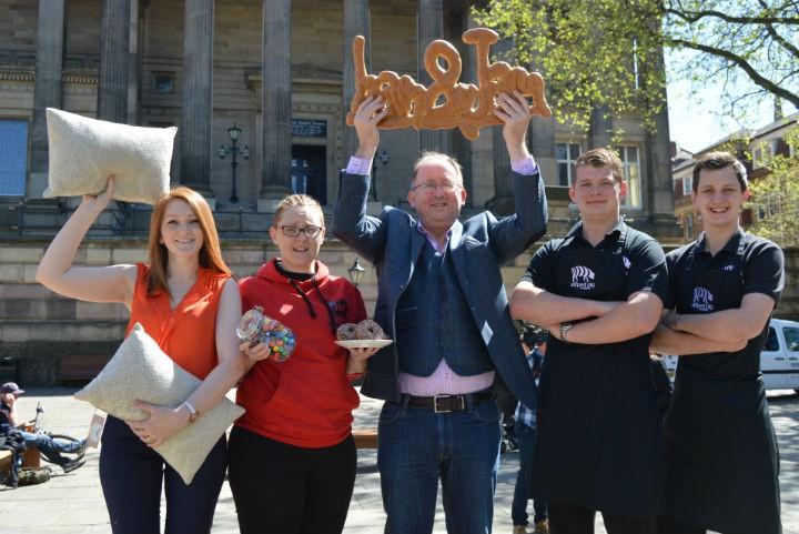 Alisa Bowen, Amelia Lavelle, Richard Lowthian, William and John Walne celebrate their win