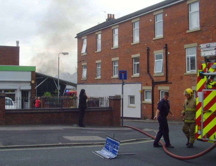 Bow Lane was closed while the fire was tackled