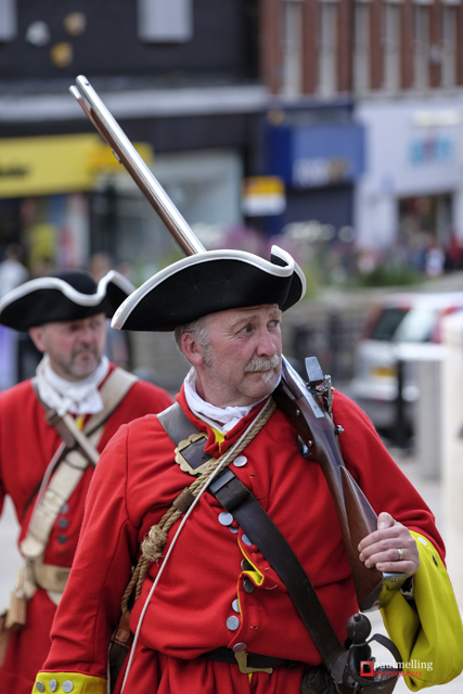 2015 sees the 300 year anniversary of the Battle of Preston, the last ever battle fought on English soil. Market Square in front of the Harris Museum and Art Gallery saw re-enactment groups mark the occasion. This is where the Jacobite Army proclaimed 'James III as King' (in opposition to the reigning King George I). Government troops eventually caught up with the Jacobites rebels with the battle taking place along the main streets of the City.