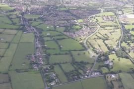 Aerial view of the Cottam Hall area