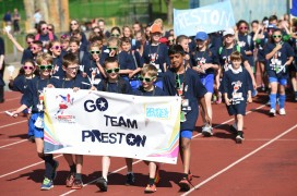Preston schools at the opening ceremony