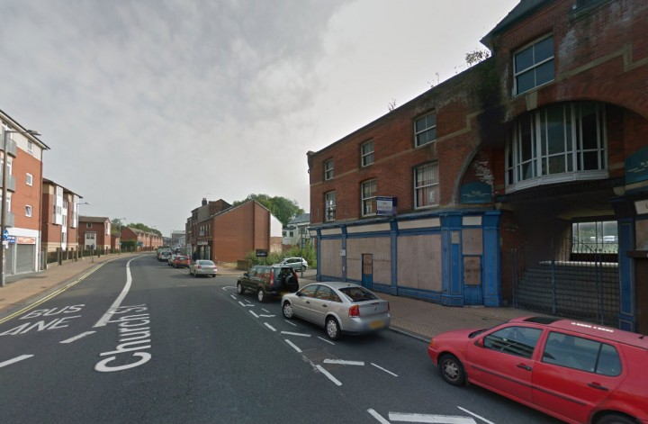 Police were seen in Church Street on Tuesday evening