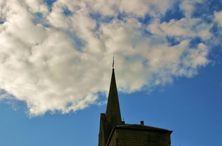 Grimshaw Street church spire needs urgent repair work Pic: foxter66