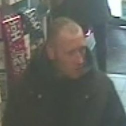 CCTV image released in connection with the bacon theft
